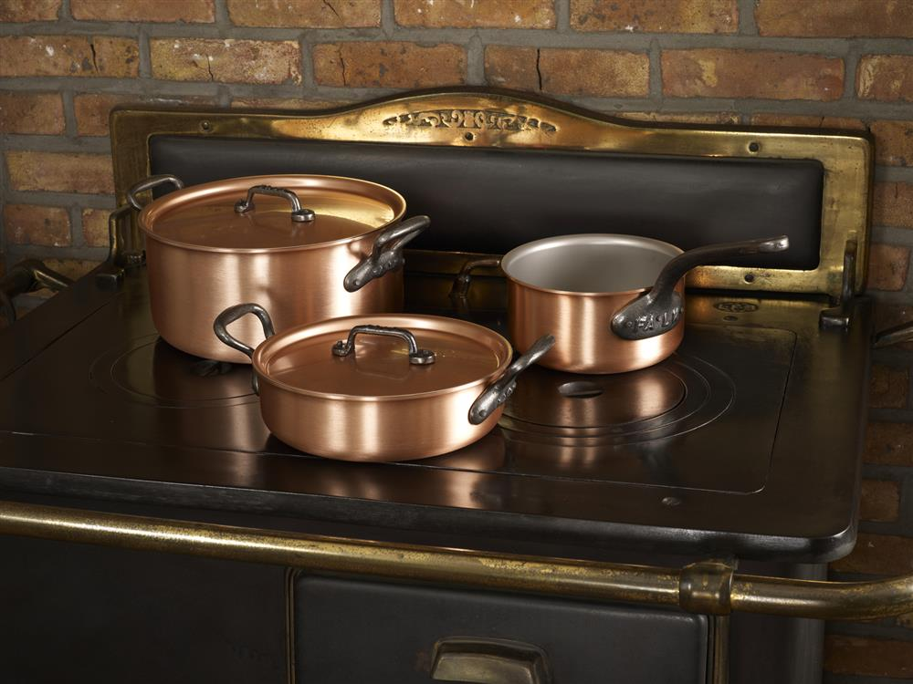Falk pans in the kitchen